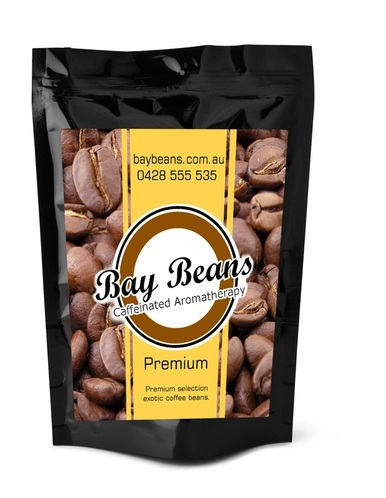 Bay Beans coffee bag design - Premium Reserve