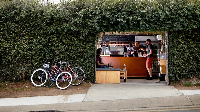 Bunker coffee shop at Milton. Picture: Mark Cranitch. Source: The Sunday Mail (Qld)