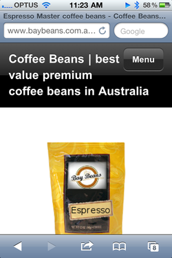 Bay Beans iPhone application