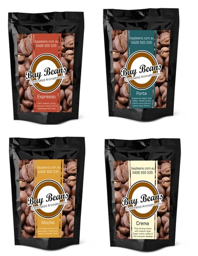 Bay Beans coffee bag design - Variety Pack