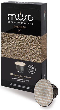 Bay Beans Super Crema Lungo coffee capsules for Nespresso