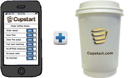 Cupstart is a platform used to order & pay for coffee online at your favourite cafe