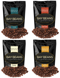 Bay Beans Variety pack 4x 250g coffee beans (Free Delivery) $59.70