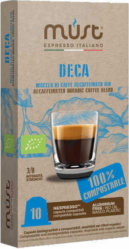 Bay Beans Decaf Certified organic coffee capsule for Nespresso